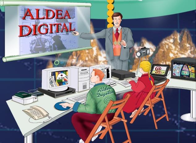 Imagen artística del proyecto Aldea Digital para proyectar visualmente su impacto